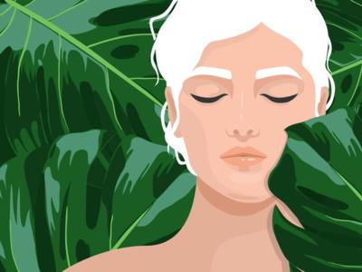 Monstera girl 🌿 vector plant woman charachter design charachter art illustration artwork monstera