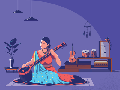 Classical Music app icon ux ui logo flat classical music music digital illustration vector illustration