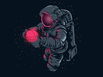 Dribbble in Space