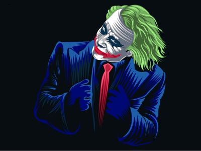 Joker joker  harley quinn bedding joker digital art illustration typography branding logo face portrait art flat vector art illustrations illstation