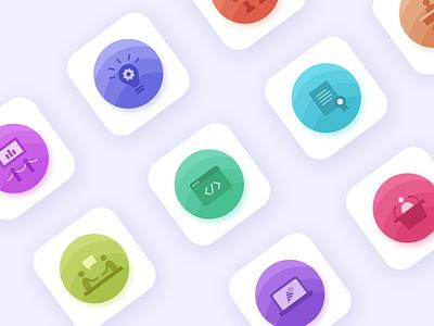Dashboard Icon Set solid color design shot illustration clean website icons pack ui design ui  ux ux ui iconography icon design iconset icons