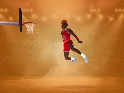 Michael Jordan Iconic Dunk Illustration vector texture illustration texture shot 2d design sports sports illustration basketball player basketball character character illustration illustration