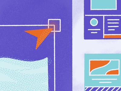 Shogun Blog Exploration blog visual shogun ecommerce app marketing branding procreate illustration