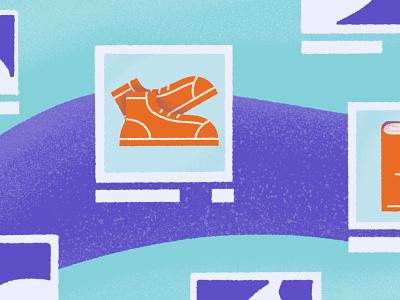 Blog & Spot Illustrations ecommerce app shogun blog marketing design branding procreate illustration