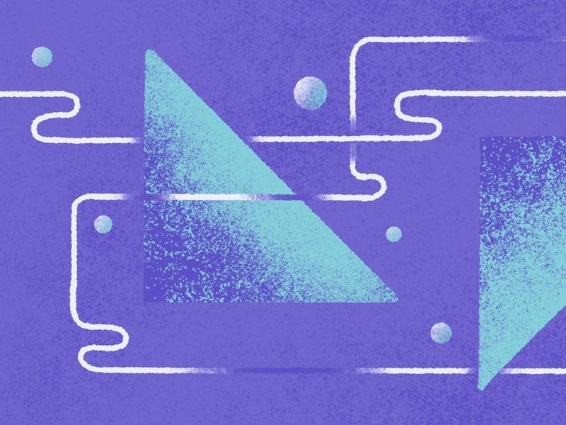 Shape & Shadow contrast textures blog shogun ecommerce app design branding procreate illustration