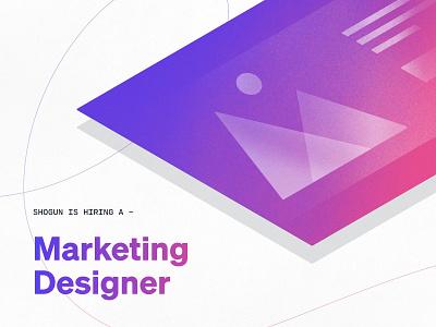 Hiring Marketing Designer ads social marketing designer hiring shogun ecommerce ecommerce app