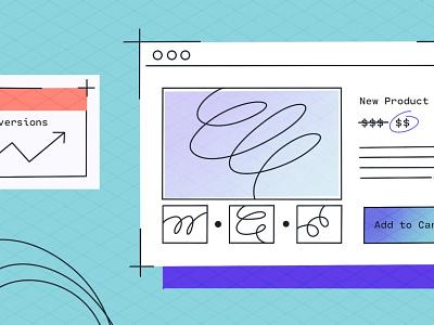 Product Page Illustration product ecommerce app blog textures shogun branding procreate illustration