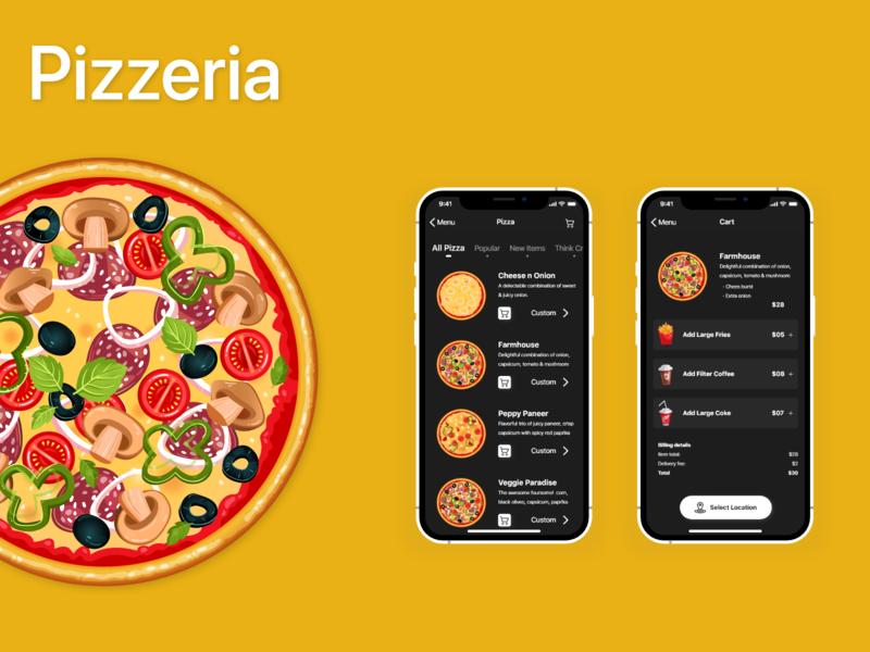 Pizzeria - Pizza Menu and Cart