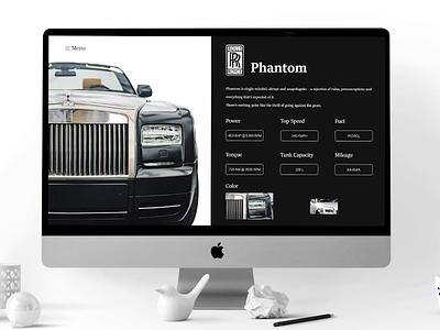 Rolls Royce Concept Menu - Prototype animation product design premium mockup prototype animation adobe xd designer typography ux designer ui ux designer aftereffects prototype