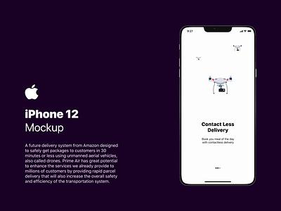 Leak Apple iPhone 12 Premium Mockup design ui leak drone figmadesign lottiefiles prototype premium mockup ux designer designer ui ux designer apple iphone iphone12