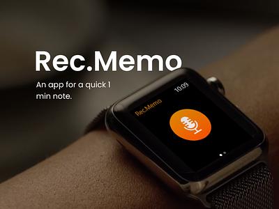 Recording Application - Apple Watch uidesign app design quick apple apple watch application recording studio adobe xd premium mockup ui ux designer ux designer record recording