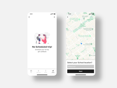 Uber For School Kids typography prototype design adobe xd mockup branding designer premium mockup ux designer ui ux designer