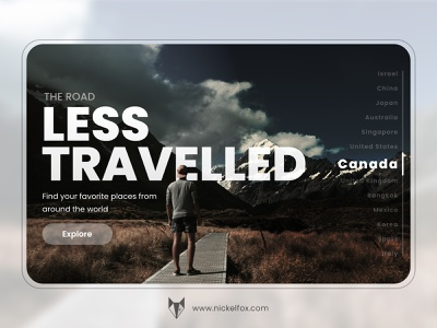 Travel Concept Landing Page ui picture country travelling roads human uiux hero hero banner web best shot travel agency traveling travel figma big text typography ui ux designer