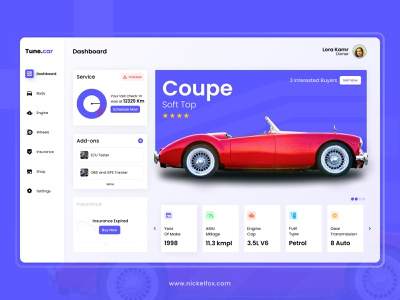 Tune.Car Dashboard Concept wheels minimalistic digital ecommerce interface webdesign charts business dashboard ui car rental sidebar design dashboard dashboard design automobile card cards car designer ui ux designer