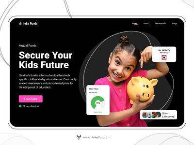Concept Mutual Funds || Hero Landing Page concept idea hero landing graphic design free mutual funds figma design illustration branding mockup premium mockup designer ux designer ui ux designer
