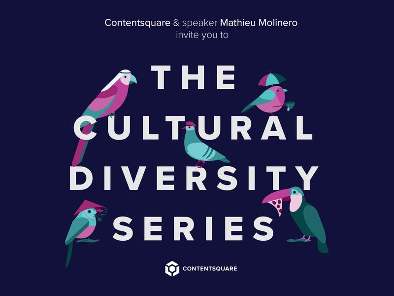 The Cultural Diversity conference vector design birds illustration