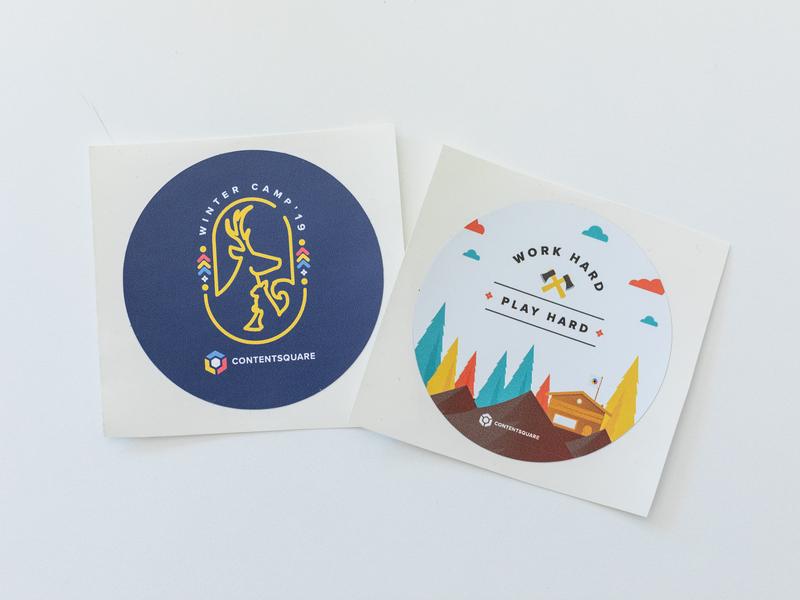 Stickers Winter camp WWKO 2019 illustraion identity logo stickers