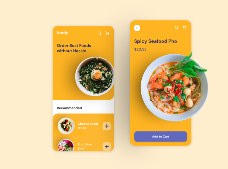 Foody - Food Delivery App delicious food meal salad food delivery app online delivery delivery app daily ui ui dailyui