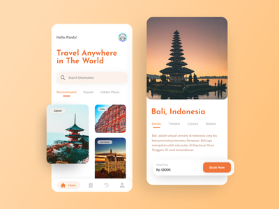 Travel App Concept engaging exciting warm traveling app traveling traveli mobile ui travel app dailyui