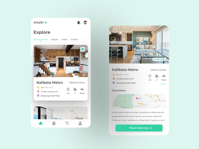 Moobi Real Estate Mobile App user interface design dailyui whitespace clean ui simple design modern design minimalism mobile ui real estate realestate