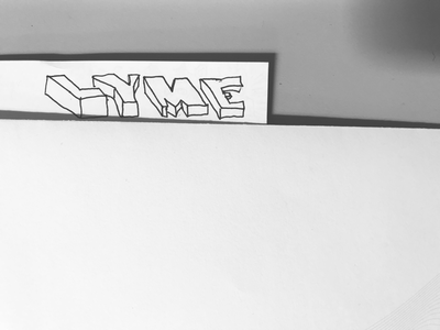 Lyme College of Art, Rejected Logotype team none inky angles pen art black and white logo
