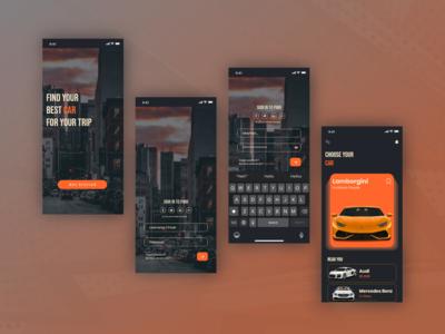Rent Car App Concept