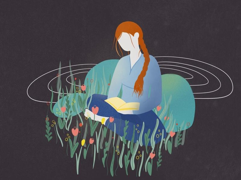 Strong girl's safe place flowers education safe girl strong illustration