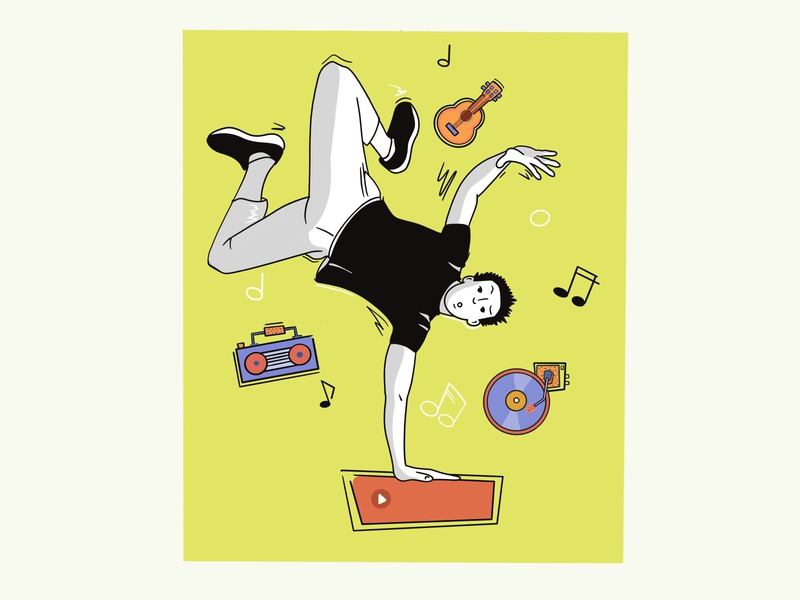 Make the music louder procreate musical instrument music illustration