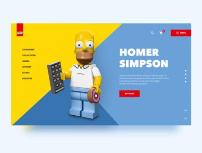 Homer Simpson concept lego