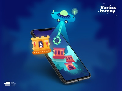 Varázstorony / Mobile Game blocks princess ufo ui design design app mobile crush tower mobile game promotion android ux design game design