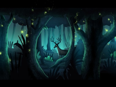 Forest Scene unity android app macos ios adventure game point and click vector android illustration app mobile app design game design