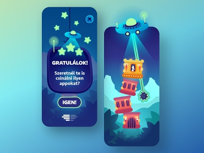 Magic Tower - Game UI princess ufo processing javascript destroyer tower ui  ux uidesign ui game illustration mobile app design app android design game design