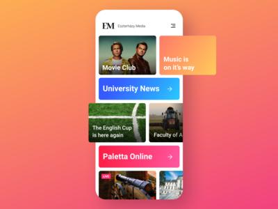 Eszterházy Media App UI