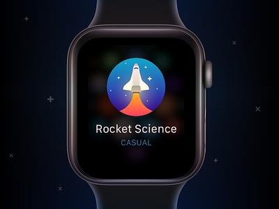 App Icon — Daily UI 5 illustration science rocket icon design icon vector watchos watch ios app design