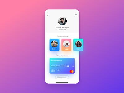User Profile — Daily UI 6 ios ux profile user cards members 006 dailyui ui mobile app design app design