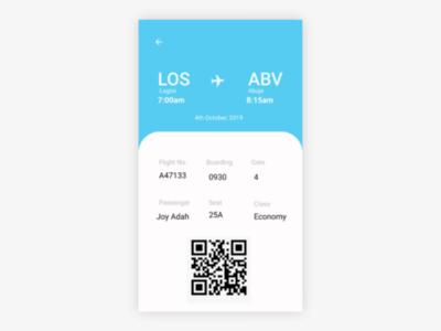 DailyUI #024 Boarding Pass