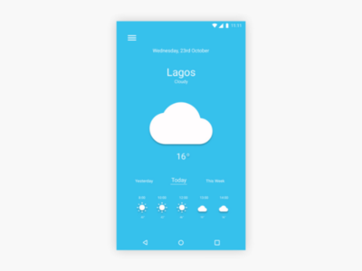 DailyUI #037 #Weather
