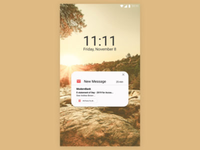 DailyUI #049 #Notification