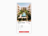 DailyUI #067 #Hotel Booking