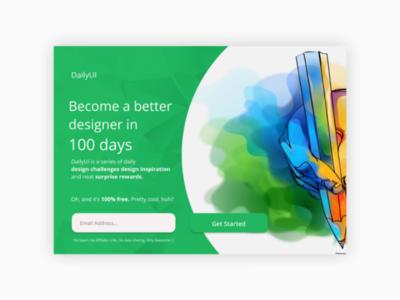 DailyUI #100 #DailyUI Landing Page