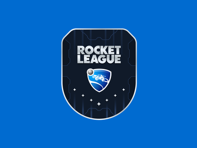 Rocket League Badge branding gaming rocket league illustration badge