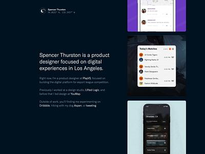 Portfolio Landing Page product design landing page portfolio website