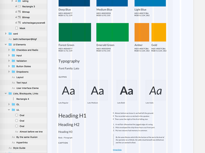 Style Guide typography sketch ui style guide