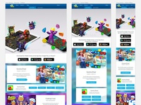 Responsive design for games page