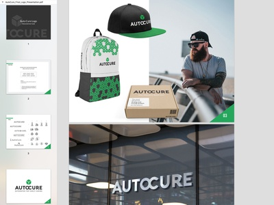 Auto Cure logo and branding presentation