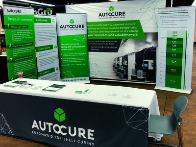 Auto Cure trade show booth booth design print banner trade show