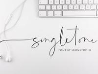 Singletone Free Signature Font
