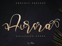 Aurora Free Calligraphy Font