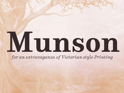 Munson - Free Victorian style font