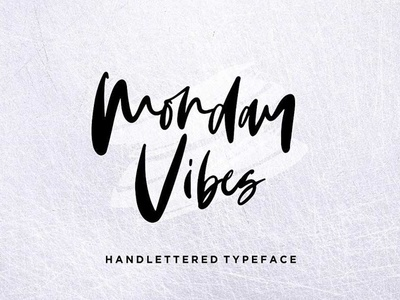 Monday Vibes - Free Handwritten Typeface